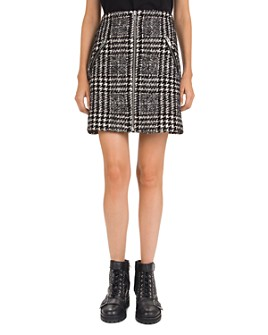 The Kooples - Plaid Zip-Detail Mini Skirt