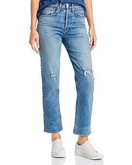 rag & bone - Maya High-Rise Ankle Straight-Leg Jeans in Orian