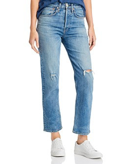 rag & bone - Maya High-Rise Ankle Straight-Leg Jeans in Orian