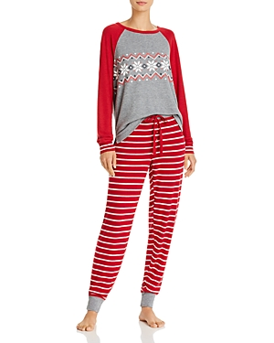 Pj Salvage Holiday Trim Pajama Set - 100% Exclusive-Women