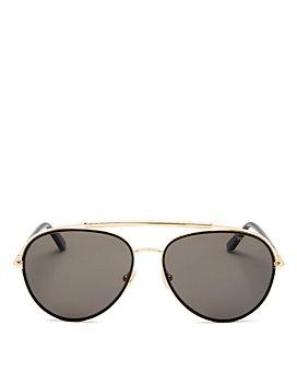 Tom Ford - Men's Curtis Polarized Brow Bar Aviator Sunglasses, 59mm