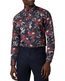 Ted Baker - Foggy Giant Floral Print Slim Fit Button-Down Shirt