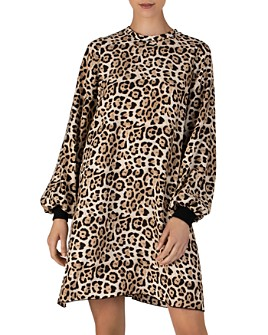 ATM Anthony Thomas Melillo - Leopard Print Silk Charmeuse Mini Dress