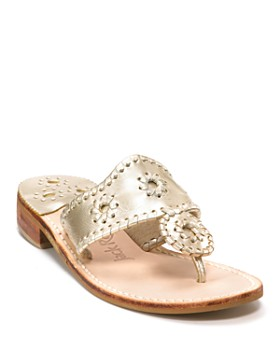 Jack Rogers - Women's Hamptons Metallic Thong Sandals