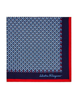 Salvatore Ferragamo - Linked Gancini Silk Pocket Square