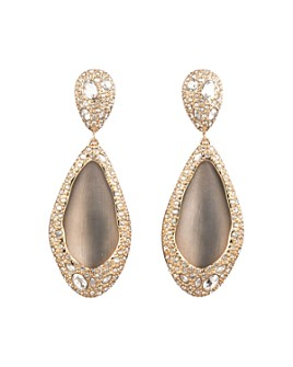 Alexis Bittar - Crystal Encrusted Teadrop Clip-On Earrings