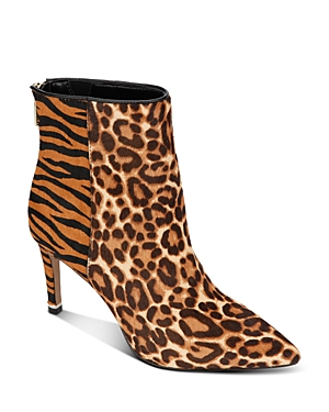 Kenneth Cole Women's Riley Simple Mixed Animal-Print Booties