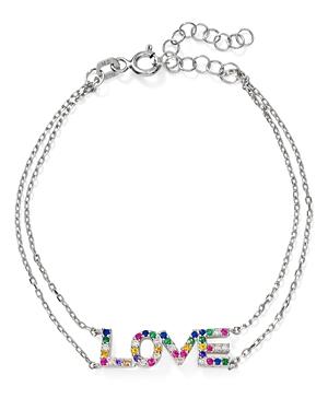 Aqua Love Bracelet in Sterling Silver - 100% Exclusive