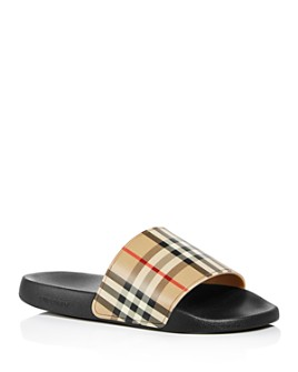 Burberry - Men's Furley Check Slide Sandals