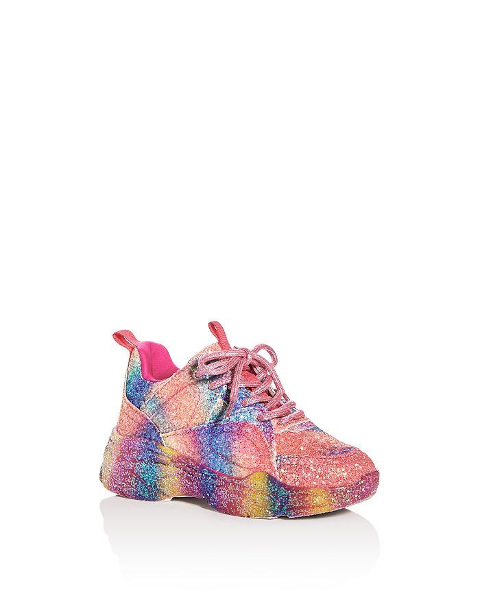STEVE MADDEN - Girls' JMovement Gliltter Low-Top Sneakers - Little Kid, Big Kid