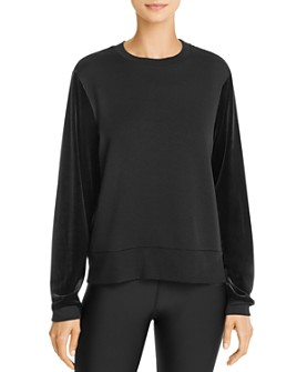 Beyond Yoga - Velvet-Sleeve Sweatshirt
