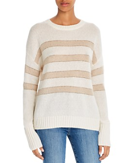 Rails - Striped Cashmere & Silk Sweater