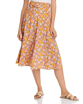 Faithfull the Brand - Luda Belted Floral Print Midi Skirt
