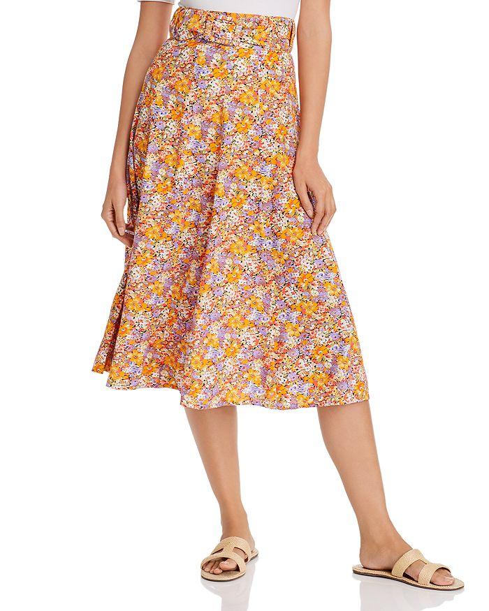 Faithfull the Brand - Luda Belted Floral Print Midi Skirt