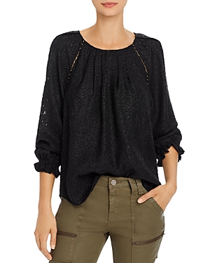 Joie Tops ADISON B METALLIC BURNOUT TOP