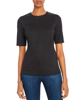 Theory - Fitted Houndstooth Top