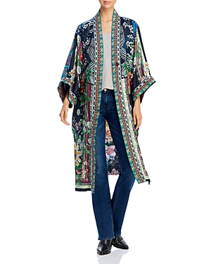 Johnny Was Tops ELIZA SILK REVERSIBLE LONG KIMONO