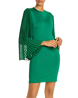Alice and Olivia - Zaya Pleated-Sleeve Dress