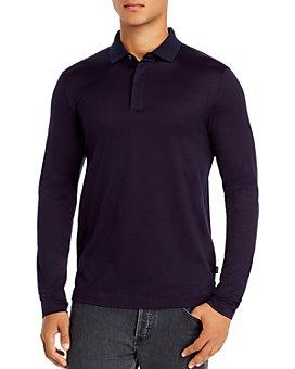 BOSS - Long-Sleeve Pleins Slim Fit Polo Shirt