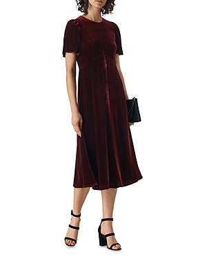 Whistles Vilimina Velvet Dress