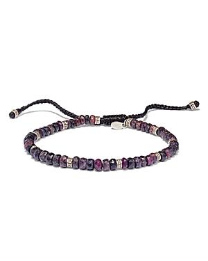 Fluorite and Sterling Silver Bead Bracelet