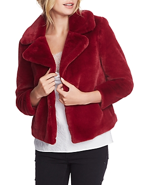 Image of 1.state Cropped Faux-Fur Jacket