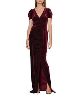 ML Monique Lhuillier - Studded Velvet Gown
