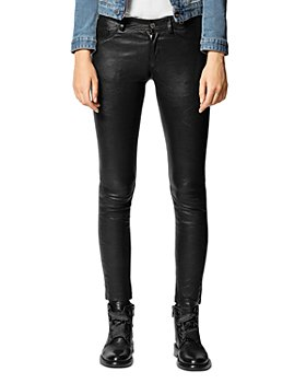 Zadig & Voltaire - Phlame Crinkled-Leather Pants
