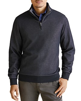 Zachary Prell - Braemore Quarter-Zip Fleece-Lined Sweater