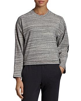 adidas Originals -  Triple Stripe Melange Cropped Sweatshirt