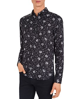 The Kooples - Erased Flowers Slim Fit Button-Down Shirt