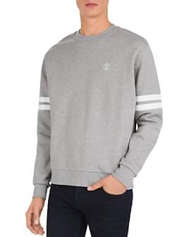 The Kooples - Fleece Striped Sleeve Sweatshirt