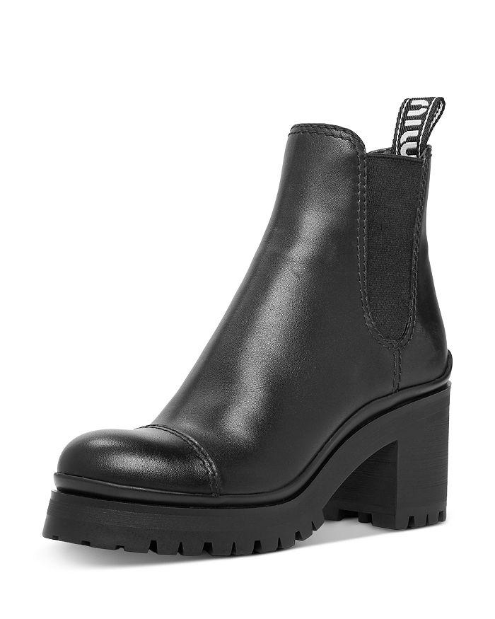 Miu Miu - Women's Leather Platform Booties