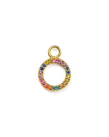 AQUA - Rainbow Circle Charm in Sterling Silver or Yellow Gold-Plated Sterling Silver - 100% Exclusive