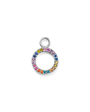 Aqua Rainbow Circle Charm in Sterling Silver or Yellow Gold-Plated Sterling Silver - 100% Exclusive