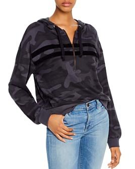 Vintage Havana - Camo Half-Zip Hooded Sweatshirt