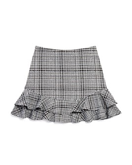 AQUA - Girls' Ruffled Plaid Skirt, Big Kid - 100% Exclusive