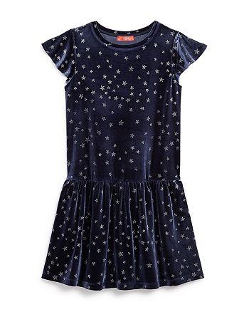 AQUA - Girls' Star Print Velvet Dress, Big Kid - 100% Exclusive