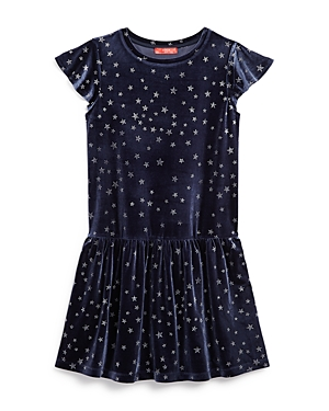 Aqua Girls' Star Print Velvet Dress, Big Kid - 100% Exclusive