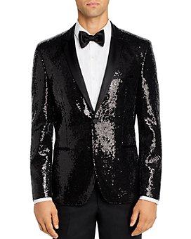 HUGO - Arti Sequined Extra Slim Fit Tuxedo Jacket