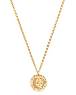 Zoë Chicco - 14K Yellow Gold Diamond Small Celestial Pendant Necklace, 18""