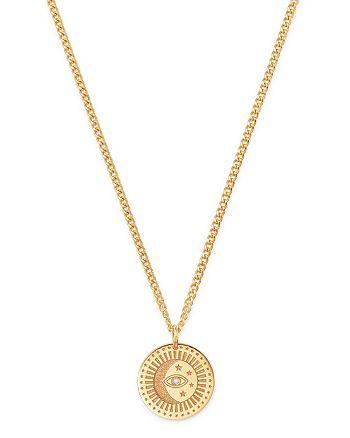 "Zoë Chicco - 14K Yellow Gold Diamond Small Celestial Pendant Necklace, 18"""
