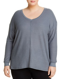 Marc New York Plus - Brushed Waffle-Knit Tee