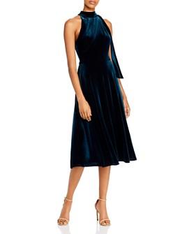 Black Halo - Audrey Velvet High-Neck Dress