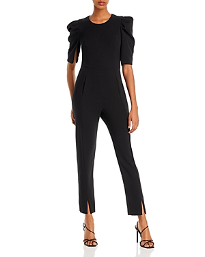 Black Halo Suits RUSSO PUFF-SLEEVE JUMPSUIT