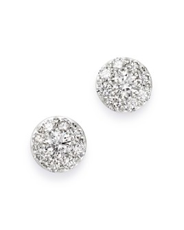 Bloomingdale's - Certified Cluster Diamond Stud Earrings in 14K White Gold, 1.50 ct. t.w. - 100% Exclusive