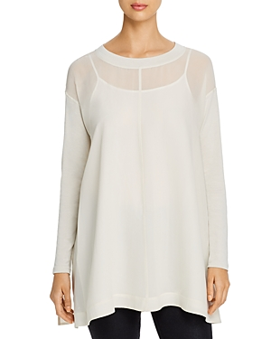 Eileen Fisher Tops LAYERED SILK TUNIC TOP