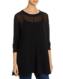Eileen Fisher - Layered Silk Tunic Top
