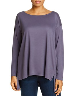 Eileen Fisher Plus - Long-Sleeve High/Low Top