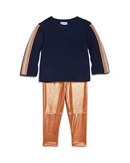 Splendid - Girls' Ribbed Sweater & Glitter Leggings Set - Baby